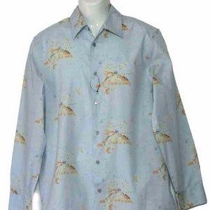 Calvin Klein Shirt Abstract Men's Size Medi…